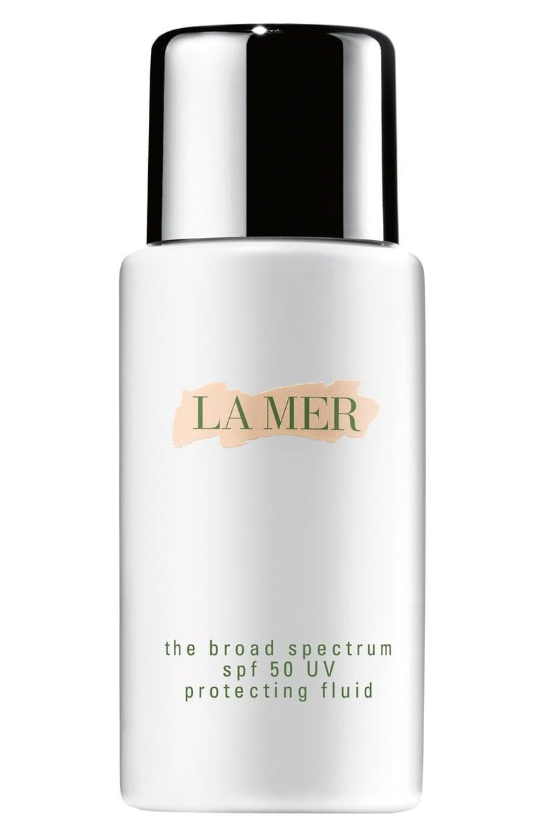 <p>Customers rave about this <span>La Mer The Broad Spectrum SPF 50 Daily UV Protecting Fluid</span> ($95). It doesn't clog pores, glides on seamlessly, and is easy to use under makeup.</p>