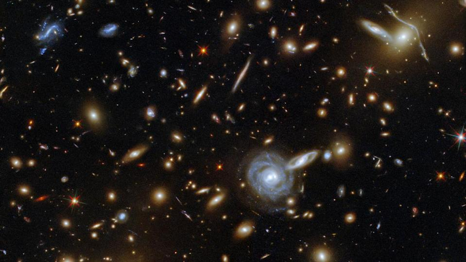 An uncountable number of galaxies flung across the immensity of spacetime.