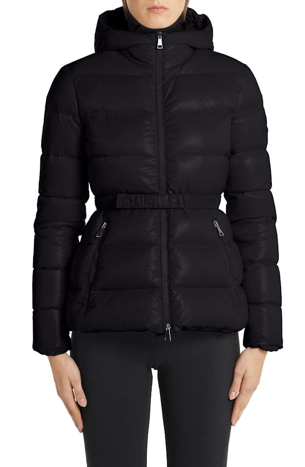 "<p>It doesn't get more sleek and sophisticated than this <a href=""https://www.popsugar.com/buy/Moncler-Rhin-Hooded-Quilted-Down-Puffer-Jacket-514674?p_name=Moncler%20Rhin%20Hooded%20Quilted%20Down%20Puffer%20Jacket&retailer=shop.nordstrom.com&pid=514674&price=1%2C385&evar1=fab%3Aus&evar9=36124584&evar98=https%3A%2F%2Fwww.popsugar.com%2Fphoto-gallery%2F36124584%2Fimage%2F46874699%2FMoncler-Rhin-Hooded-Quilted-Down-Puffer-Jacket&list1=shopping%2Ccoats%2Choliday%2Cjackets%2Cwinter%2Cwinter%20fashion%2Choliday%20fashion%2Cpuffer%20jackets&prop13=api&pdata=1"" rel=""nofollow"" data-shoppable-link=""1"" target=""_blank"" class=""ga-track"" data-ga-category=""Related"" data-ga-label=""https://shop.nordstrom.com/s/moncler-rhin-hooded-quilted-down-puffer-jacket/5293922/full?origin=keywordsearch-personalizedsort&amp;breadcrumb=Home%2FAll%20Results%2FWomen%27s%20Clothing&amp;color=black"" data-ga-action=""In-Line Links"">Moncler Rhin Hooded Quilted Down Puffer Jacket</a> ($1,385). It's a dream puffer coat.</p>"