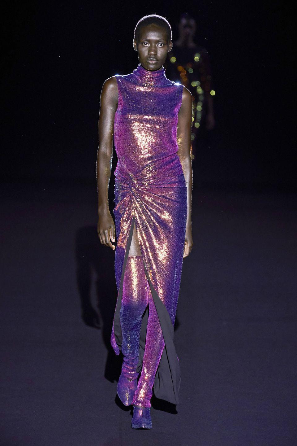 <p>Holographic, multi-chrome—whatever you want to call 'em, these spacey metals aren't going anywhere for the colder months in 2020.</p><p><em>Sally Lapointe</em></p>