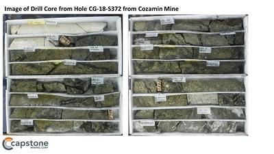 Figure 1. High grade infill and step-out holes on the periphery of the recently acquired Portree claimblock. For full details refer to the November 5, 2019 news release. (CNW Group/Capstone Mining Corp.)