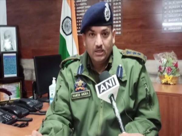 Poonch SSP Ramesh Angral speaking to ANI on Friday. (Photo/ANI)