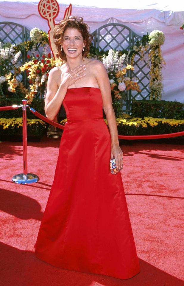 Debra Messing at the 52nd Annual Emmy Awards in Los Angeles on September 10, 2000.