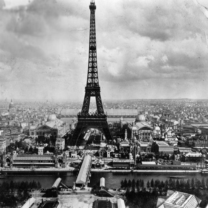 The Eiffel tower photographed during its world fair debut