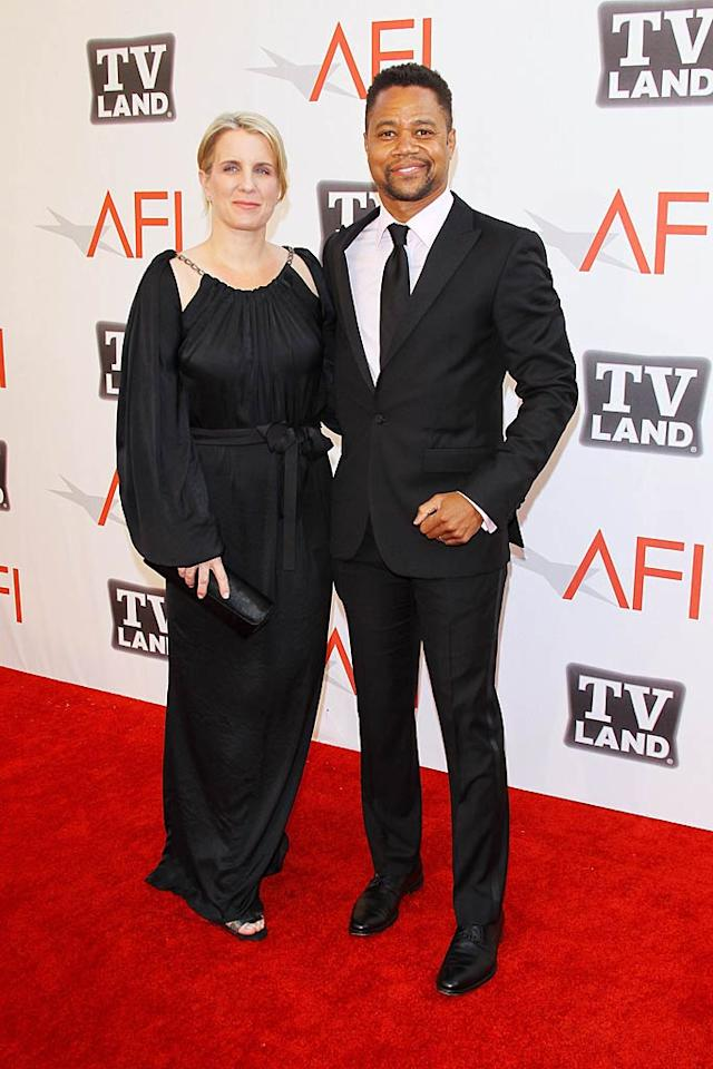 """Cuba Gooding Jr., who filmed """"Outbreak"""" with the legendary actor more than 16 years ago, brought wife Sara as his date to the tribute show, which will air on TV Land next Sunday, June 19 at 9 p.m. ET/PT. Michael Tran/<a href=""""http://www.filmmagic.com/"""" target=""""new"""">FilmMagic.com</a> - June 9, 2011"""