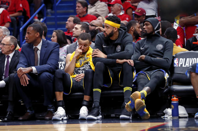 Coming off two wins on their home court, the Warriors seemed to sleepwalk through large stages of Game 3, never really getting in the fight. (AP)