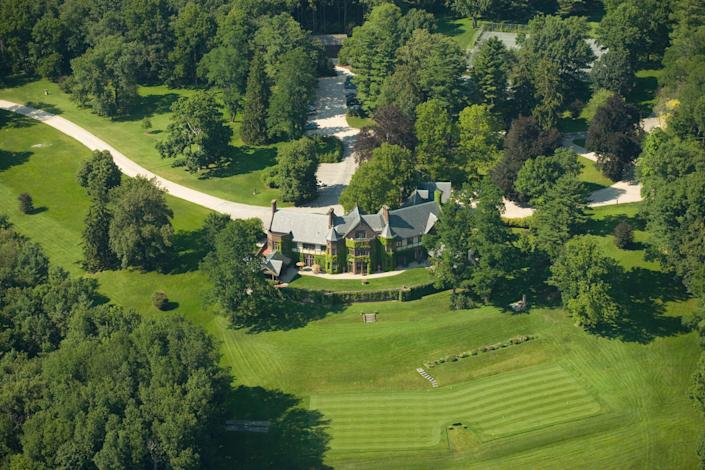 The lush Blantyre estate seen from above.