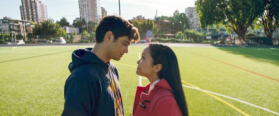 "<p>Based on <a href=""https://www.popsugar.com/entertainment/All-Boys-Ive-Loved-Before-Cast-Rom-Com-Moments-45177783"" class=""link rapid-noclick-resp"" rel=""nofollow noopener"" target=""_blank"" data-ylk=""slk:Jenny Han's YA novel"">Jenny Han's YA novel</a>, Netflix's <strong>To All the Boys I've Loved Before </strong>instantly charmed viewers. It follows the life of Lara Jean Covey (Lana Condor), a young woman who lives with her widowed father and two sisters. She writes secret letters for all of the boys that she has intense crushes on and discovers one day that someone has sent them all out. In an attempt to cover things up, she begins a fake romance with one of the letter recipients - Peter Kavinsky, aka <a href=""https://www.popsugar.com/celebrity/Noah-Centineo-Lana-Condor-2019-Kids-Choice-Awards-Photos-45952567"" class=""link rapid-noclick-resp"" rel=""nofollow noopener"" target=""_blank"" data-ylk=""slk:Noah Centineo"">Noah Centineo</a>, the Internet's beloved boyfriend. </p>"
