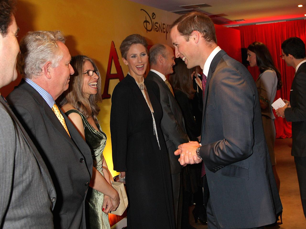 LONDON, ENGLAND - APRIL 25:  Prince William, Duke of Cambridge chats to Alix Tidmarsh at the UK Premiere of 'African Cats' in aid of Tusk at BFI Southbank on April 25, 2012 in London, England.  (Photo by Chris Jackson - WPA Pool /Getty Images)