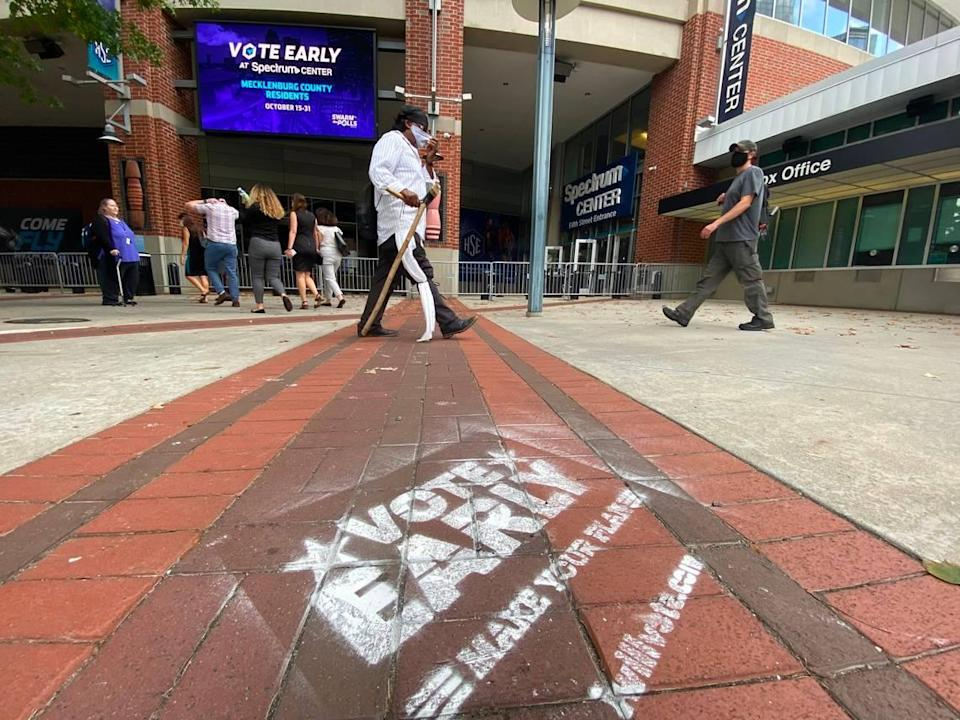 Lines to vote were nearly nonexistent Thursday, Oct. 15, 2020, at Spectrum Center.