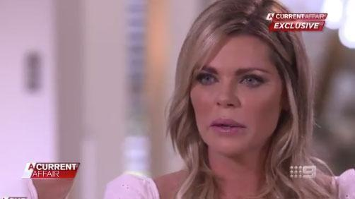 An emotional Sophie Monk confesses she clashed with Stu Laundy over their 'different morals'. Photo: Nine