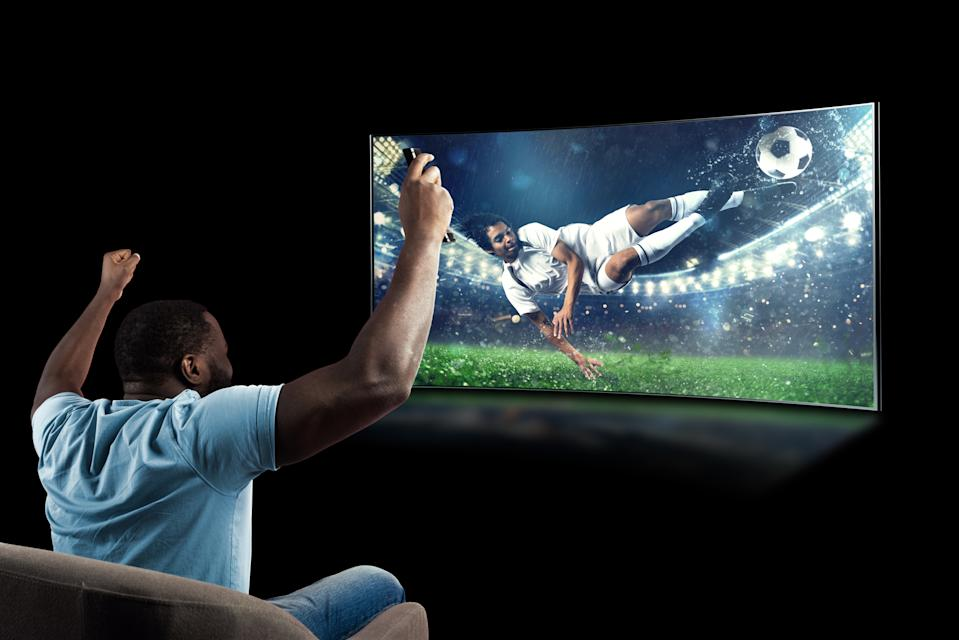 Watch a sporting event from the comfort of your home
