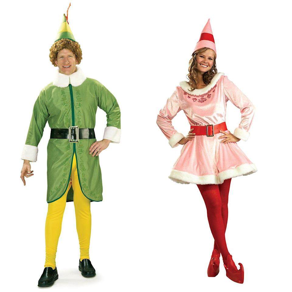 """<p><strong>BuyCostumes</strong></p><p>walmart.com</p><p><strong>$125.59</strong></p><p><a href=""""https://go.redirectingat.com?id=74968X1596630&url=https%3A%2F%2Fwww.walmart.com%2Fip%2F539052694&sref=https%3A%2F%2Fwww.womenshealthmag.com%2Frelationships%2Fg33298559%2Fcouple-costume-ideas-for-halloween%2F"""" rel=""""nofollow noopener"""" target=""""_blank"""" data-ylk=""""slk:Shop Now"""" class=""""link rapid-noclick-resp"""">Shop Now</a></p><p>You'd be a cotton-headed ninny muggins not to dress up like Buddy and Jovi for Halloween. </p>"""