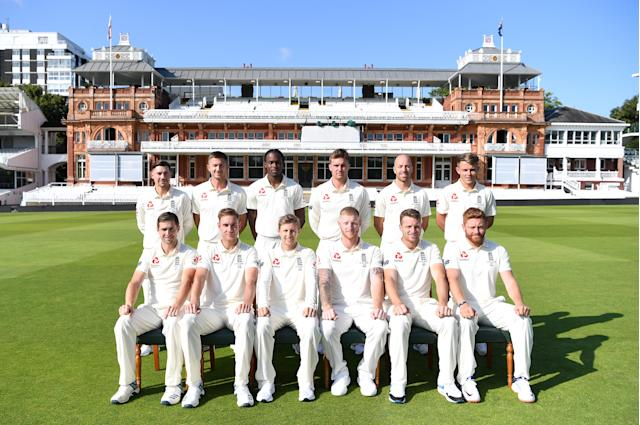 The England team for the second Ashes Test (Photo by Gareth Copley/Getty Images)
