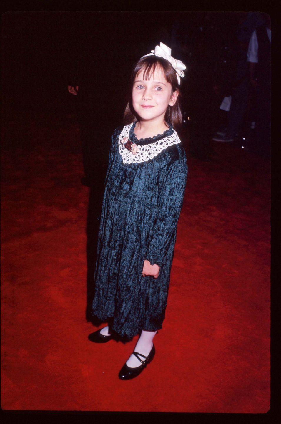 <p>After her first role in <em>Mrs. Doubtfire, </em>Mara Wilson quickly became one of the biggest child stars of the '90s. Before the age of 10, she landed several lead roles, including in <em>Matilda </em>and<em> Miracle on 34th Street</em>. </p>