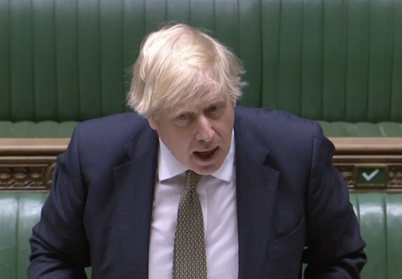 Boris Johnson suggested at PMQs that the coronavirus lockdown will be eased on Monday. (Parliamentlive.tv)