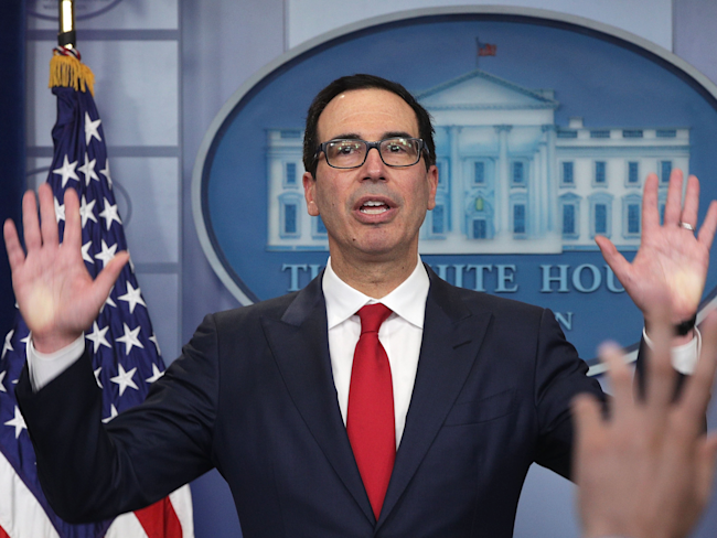 Treasury: Mnuchin requested plane for secure communications