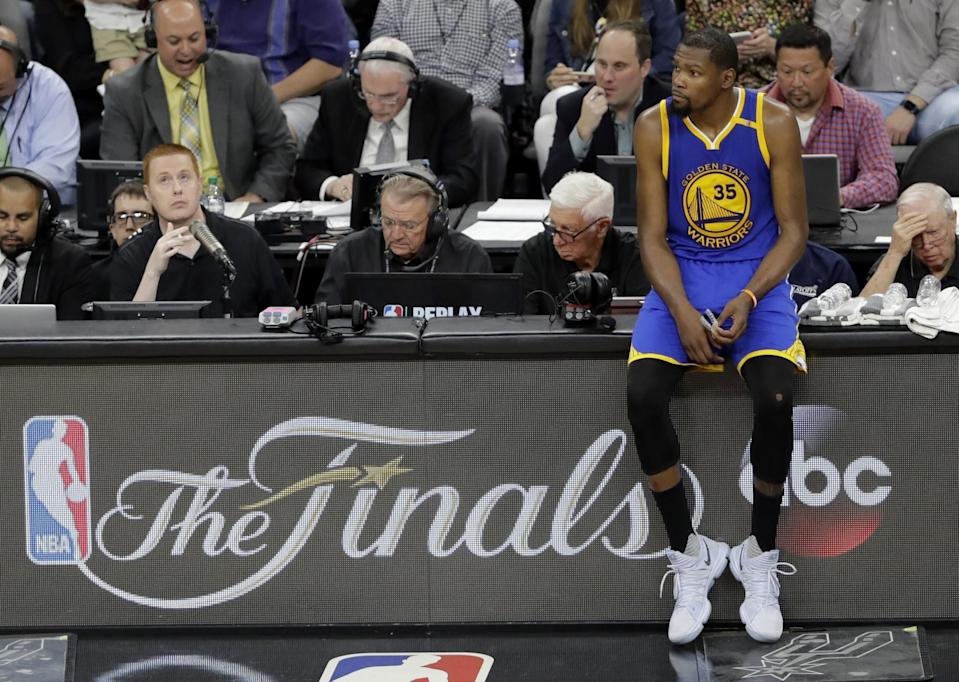In his 10th NBA season, Kevin Durant is making a return trip to the NBA Finals. (AP)