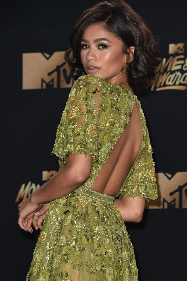 Zendaya attends the 2017 MTV Movie and TV Awards in Los Angeles, Calif. (Photo: Alberto E. Rodriguez/Getty Images)