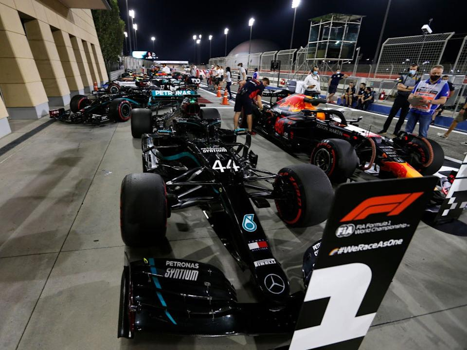 <p>Hamilton took his 11th victory of the season in Bahrain last weekend</p>Getty