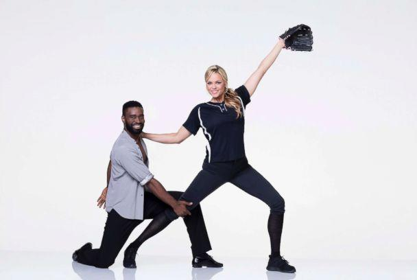 PHOTO: Jennie Finch, the Olympic softball pitcher who won a gold medal for Team USA, is dancing with pro Keo Motsepe. (Craig Sjodin/ABC)