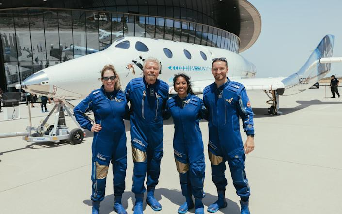 Branson and his fellow Mission Specialists last week