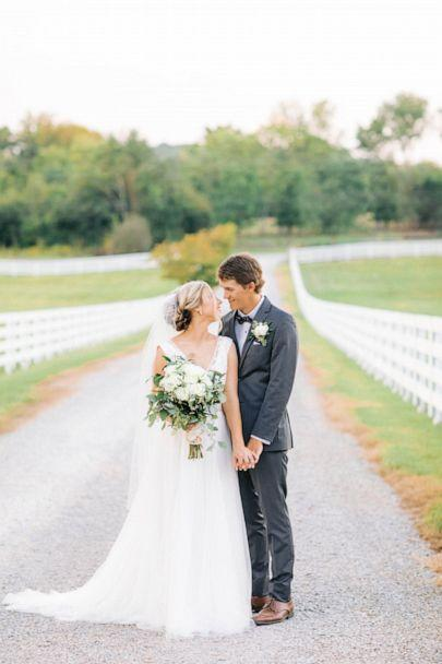 PHOTO: The newlyweds had been together for almost seven years when they got married. (Courtesy Morgan Franklin Creative)