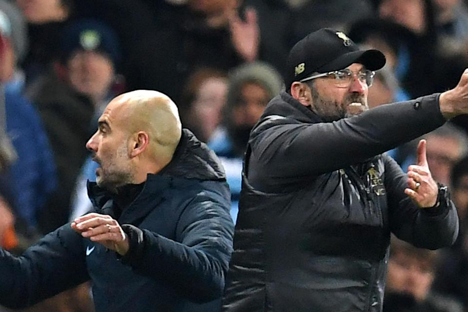 <p>Guardiola and City's battles with Klopp and Liverpool have lit up the league in recent years</p>Getty Images