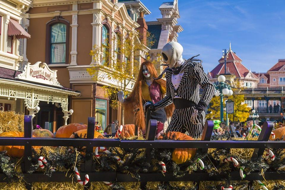 "<p>Disneyland Paris decks out its entire park to celebrate Halloween each year, flooding every nook and cranny with pumpkins, fall leaves, and of course, Jack Skellington and Sally. <br></p><p><strong>BUY</strong>: <em><a href=""https://www.orientaltrading.com/jack-sally-and-zero-cardboard-stand-up-a2-13612597.fltr"" rel=""nofollow noopener"" target=""_blank"" data-ylk=""slk:The Nightmare Before Christmas"" class=""link rapid-noclick-resp"">The Nightmare Before Christmas </a></em><a href=""https://www.orientaltrading.com/jack-sally-and-zero-cardboard-stand-up-a2-13612597.fltr"" rel=""nofollow noopener"" target=""_blank"" data-ylk=""slk:cutout"" class=""link rapid-noclick-resp"">cutout</a> ($46, Oriental Trading) </p>"