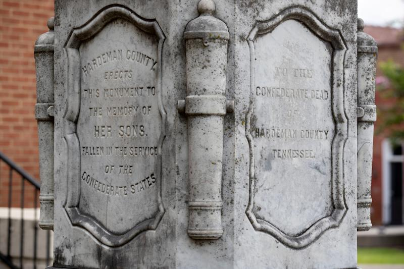 Name: Hardeman County Confederate Monument. Location: Hardeman County Courthouse. Date: Dedicated January 1, 1873.
