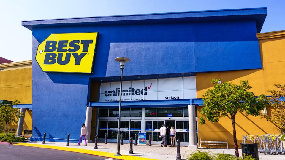 August 19, 2018 Mountain View / CA / USA - Best Buy shop entrance to one of their locations in south San Francisco bay area - Image.