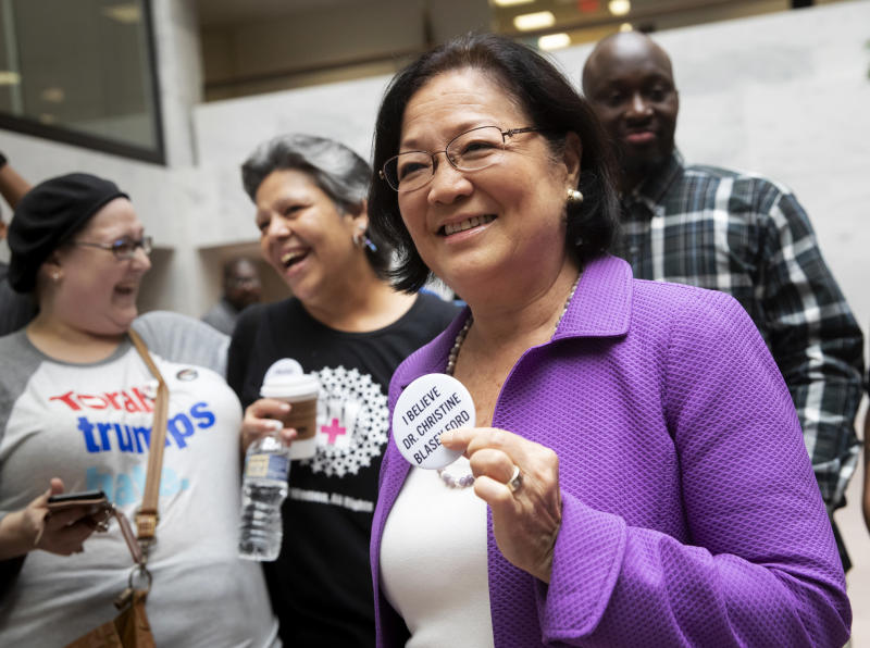 Call for men to 'step up' puts Sen. Hirono in the spotlight