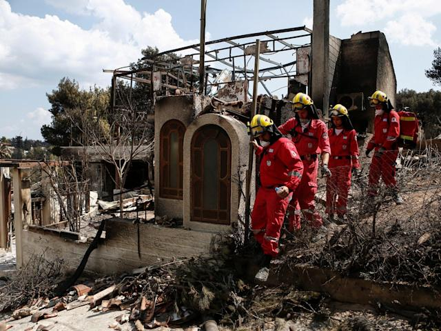 There are no words to describe it': Survivors of Greek wildfires