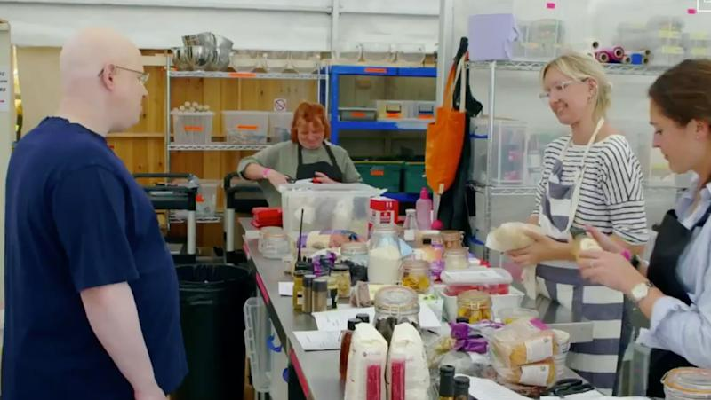 Matt showed us the area where the ingredients are prepped (Photo: Channel 4)