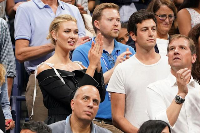 "Joshua Kushner, seen with his wife, Karlie Kloss, at the U.S. Open, recently became a minority owner in the <a class=""link rapid-noclick-resp"" href=""/nba/teams/memphis/"" data-ylk=""slk:Memphis Grizzlies"">Memphis Grizzlies</a>. (Greg Allen/Invision/AP)"