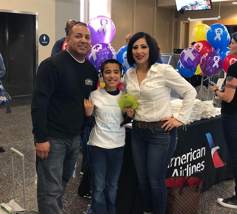 "Jesus, Michael and Annette Martinez participated in American Airlines' ""It's Cool to Fly"" program for children with autism. (Photo Courtesy of Annette Martinez)"