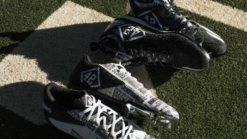 eadb293af73 Check out adidas  special spikes honoring Jackie Robinson