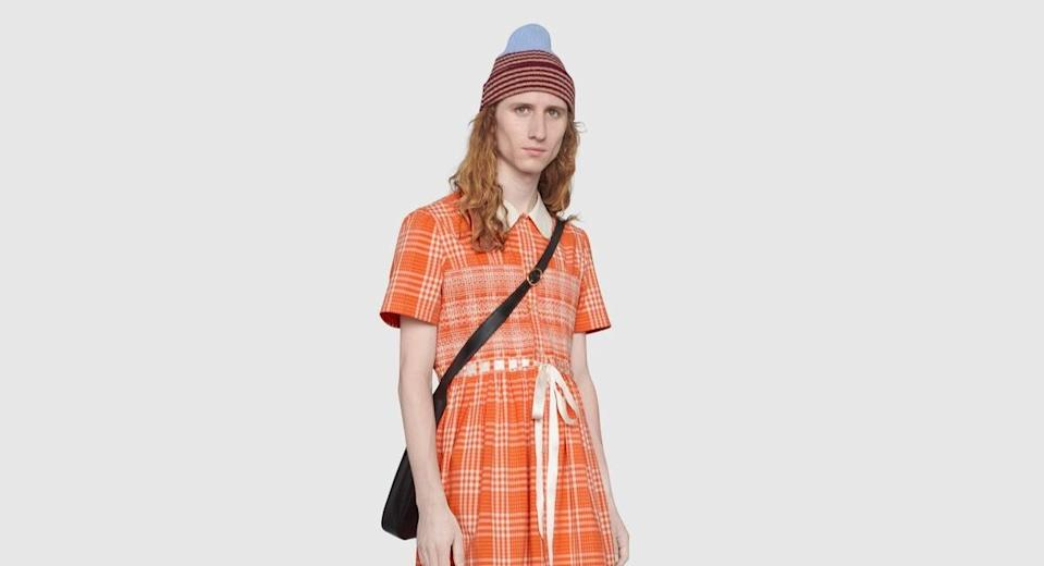 Gucci is selling a dress in its latest men's collection costing £1,700 (Gucci)
