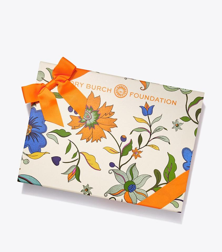 "Tory Burch's Seed Box is back! This year the box  features a curated selection of products made by women entrepreneurs — including a scarf designed by Tory Burch — and 100% of all net proceeds go towards  the Tory Burch Foundation, that's all about women empowerment and entrepreneurship. $98, Tory Burch. <a href=""https://www.toryburch.com/tory-burch-foundation-seed-box/73164.html?color=803"">Get it now!</a>"