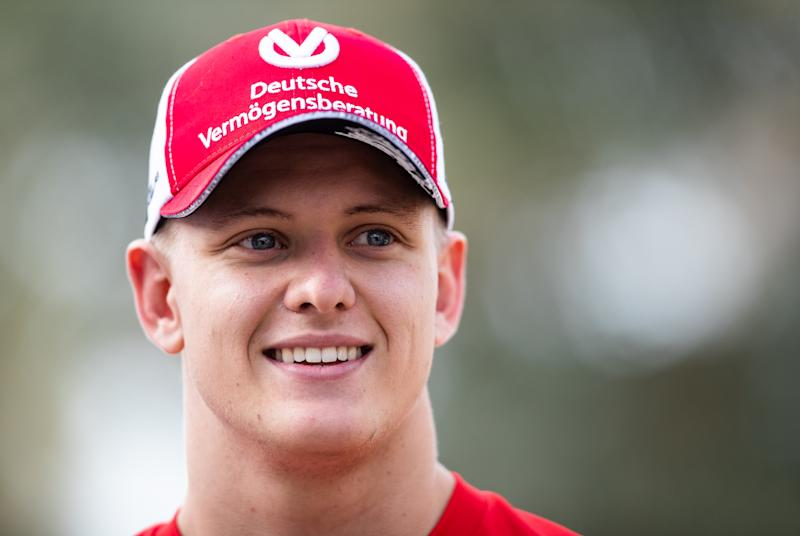 BAHRAIN, BAHRAIN - MARCH 31: Mick Schumacher of Germany and Ferrari looks on in the Paddock before the F1 Grand Prix of Bahrain at Bahrain International Circuit on March 31, 2019 in Bahrain, Bahrain. (Photo by Lars Baron/Getty Images)