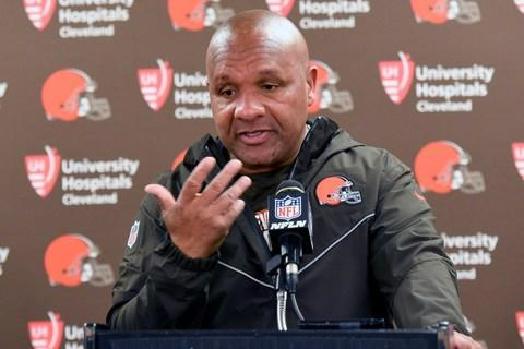 <span>Hue Jackson was fired by the Browns after his team lost to the Steelers</span> <span>Credit: AP Photo/Gene J. Puskar </span>