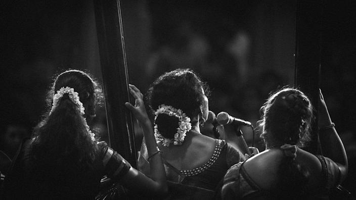 Indian Carnatic classical music performance.
