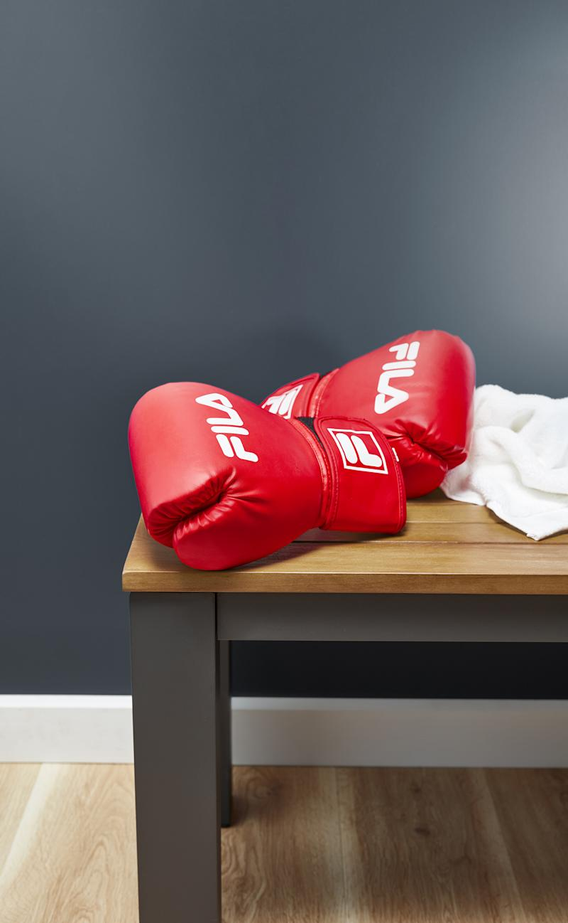 A pair of Fila Challengers boxing gloves ($19.99) are a great gift idea for sporty dads. Photo: Coles (supplied).