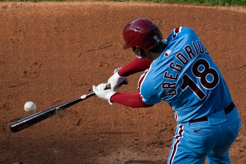 Didi Gregorius bats with the Phillies
