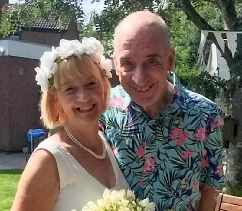 Bill and Anne Duncan on their second wedding August 2019. (Anne Duncan/SWNS)