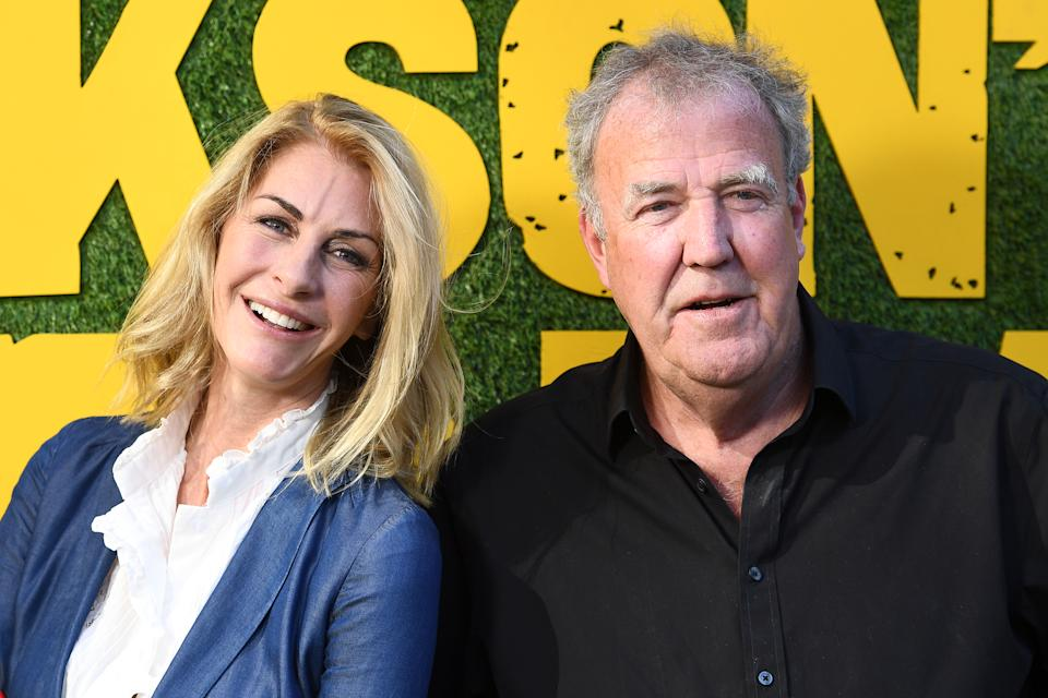 LONDON, ENGLAND - JUNE 09: Lisa Hogan and Jeremy Clarkson during the