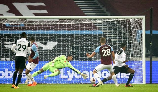 Tomas Soucek scored in stoppage time to put West Ham in front before the penalty drama