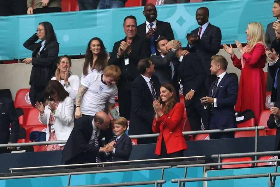 <p>On June 29, Prince George was the envy of many English kids when he was sat in Wembley Stadium's royal box for England's winning Last 16 Euros match against Germany.</p><p>The seven-year-old (who turns eight in July) joing his parents, the Duke and Duchess of Cambridge in the box but also A-Listers like Ed Sheeran and his wife Cherry, David and Romeo Beckham, Ellie Goulding and Caspar Jopling and former England goalkeeper David Seaman.</p><p>George matched his Dad in a suit and tie and was seen celebrating the goals and standing for the national anthem, about his great-grandmother. What a life.</p>
