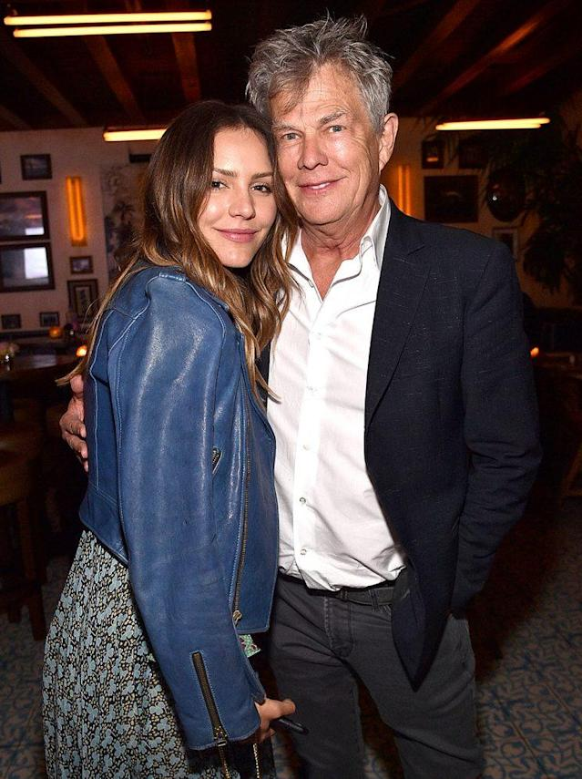 Katharine McPhee and David Foster looked quite cozy at Barbra Streisand's birthday bash in April. (Photo: Kevin Mazur/WireImage)