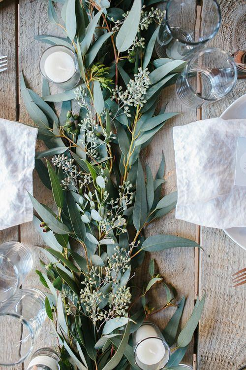 <p>No need to fuss with extravagant table accessories this year, as there has been a 201 percent increase in interest surrounding natural dining settings.<br>For instance, many are taking to using winter florals and pinecones to set the scene. <em>[Photo: Pinterest via Elora Blue]</em> </p>